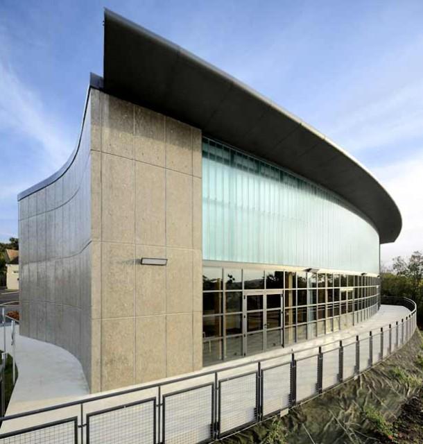 Salle polyvalente panoramique, architecte Bertrand Penneron