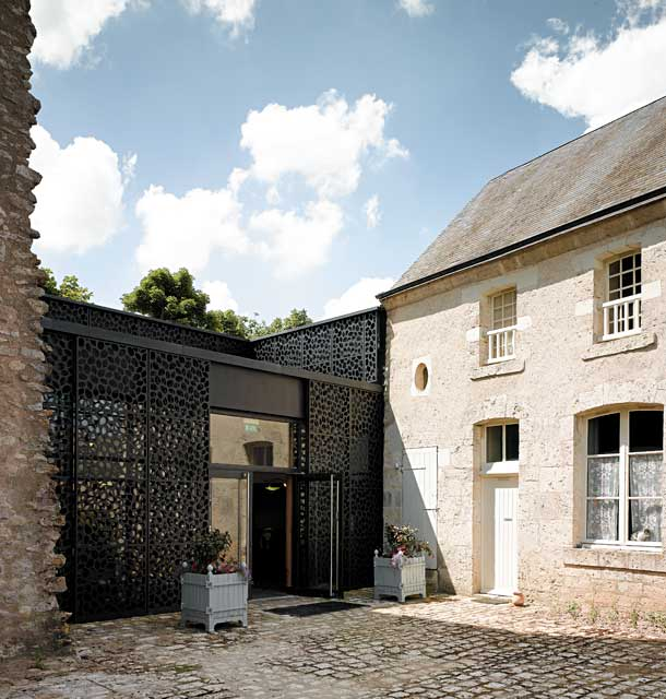 Création de l'accueil d'un château classé monument historique, architecte Bertrand Penneron