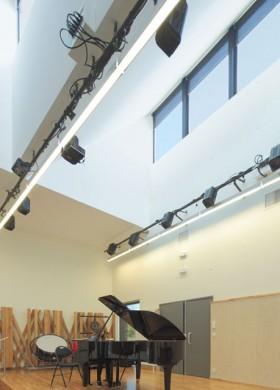 Ecole de musique et parc écologique à Chambray-lès-Tours, architecte Bertrand Penneron, Salle d'audition